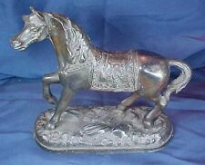 Vintage Metal Bronze Color Horse Statue Clock Topper