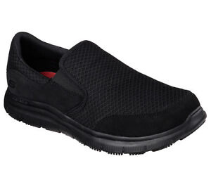 Skechers MEN'S WORK: FLEX ADVANTAGE - MCALLEN Slip Resistant Black 77048