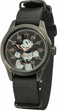 Disney/Ingersoll DIN008BKBK Gents Mickey Mouse Watch With Black Nylon Strap