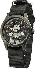 Disney/Ingersoll DIN008BKBK Gents Mickey Mouse Watch With Black Nylon Strap