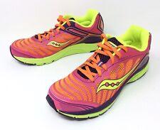 SAUCONY Kinvara 3 Women's Running Athletic Shoes Orange Pink Yellow Sz. 6M