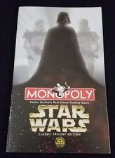 Star Wars Monopoly Classic Trilogy Edition 1997 Instruction Manual Replacement