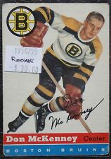 1954-55 BOSTON BRUINS - DON McKENNEY - ROOKIE - #35 - First Year Topps TCG - NCC