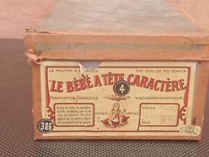 Poupée ancienne dans sa Boîte d'origine Tête A caractère  JUMEAU  SFBJ No 4