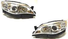 SUBARU IMPREZA 2008-2010 front head lamps lights LEFT+ RIGHT ONE SET Chrome