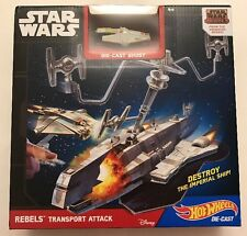 Hot Wheels Star Wars Starship Rebels Transport Attack Toy Play Set New In Box !!