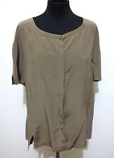 CULT VINTAGE '80 Camicia Donna Seta Blusa Silk Woman Shirt Sz.L - 46