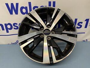 Peugeot 3008 18'' BLACK DIAMOND CUT Alloy Wheel Genuine 98096887377