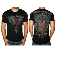 AFFLICTION GSP RUSH Xtreme Couture SMALL George St Pierre T shirt NEW UFC Tee