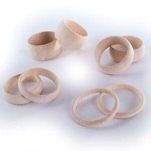 Selection of Crafts Natural Unfinished Wooden Bracelet Bangles / Wood Wristlet