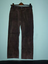 H & M BROWN SUEDE TROUSERS, 11-12YR NEW