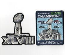 SUPER BOWL XLVIII SUPERBOWL SB 48 CHAMPION Seahawks rout Broncos 2-PATCH SET a