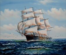 Sailing Ship 12, Quality Hand Painted Oil Painting 20x24in