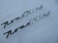 pair Harley Davidson Front Fender Name Plates badges emblems Road King
