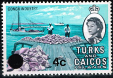British Turks Caicos Islands Marin Life Conch Industry stamp 1962 MLH
