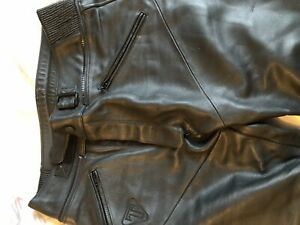 Triumph Mens Leather Motorcycle Trousers Jeans Size 36