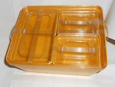 STANLEY HOME PRODUCTS 4 PIECE YELLOW PLASTIC REFRIGERATOR DISHES