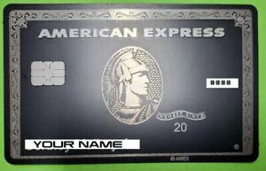 🇺🇸 Customizable American Express Centurion Metal Black Card Collectble USA