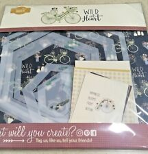 New Kiwi Lane Club March 2020 Wild at Heart Includes Templates Scrapbook Kit