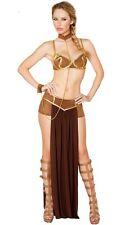 4-Piece Women Sexy Princess Leia Slave Costume Miss Manners Cosplay Uniform