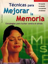 TECNICAS para Mejorar la Memoria - Spanish - Paperback Edition