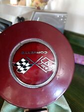 1976 - Chevrolet Corvette original factory gas cap lid, hinge & sunburst emblem