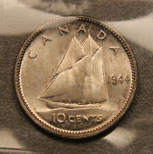1944 Canada Silver 10 Cents ICCS MS-65 Gem Uncirculated!