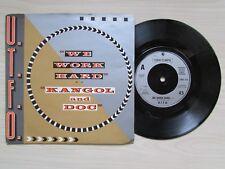 "U.T.F.O. ""WE WORK HARD"" ""KANGOL AND DOG"" 7"" SINGLE, 1986 COOLTEMPO."