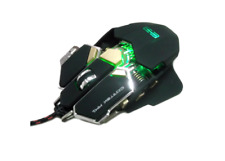 MOUSE CORTEK MM1 GAMING LASER METALLICO ILLUMINAZIONE RGB 10 TASTI USB 8200 DPI