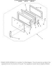 LLP1)  Whirlpool R9900239 Microwave W10115024 Door Frame