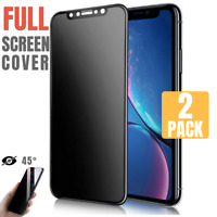 Privacy Anti Spy Tempered Glass Full Screen Protector For iPhone X/XS/XR/XS MAX