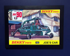 Dinky Toys 102 Joe 90 Gerry Anderson 1968 Framed A4 Size Poster Advert Shop Sign