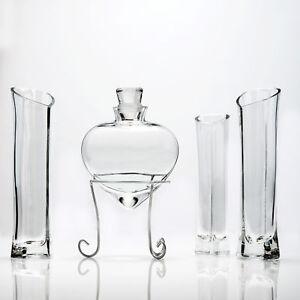 Sand Ceremony Heart Shaped Glass Vase 6 Piece  Set