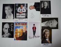 TV Film Actor SIGNED 6x4 Official Photo Autograph x9 Multi Pack TV AFTAL COA