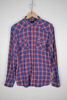 FISHBOVE SLIM FIT Camicia Shirt Maglia Chemise Camisa Hemd Tg L Uomo Man C