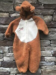 Disney Catalog Chip Costume Chip And Dale Plush Chipmunk Zipper 2-4T Warm