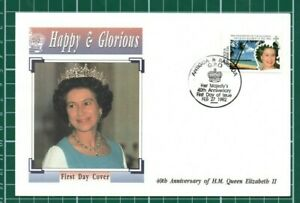 FDC Antigua & Barbuda 40th Anniv QEII 27 February 1992
