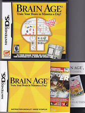 BRAIN AGE  game complete with Manual for NINTENDO DS
