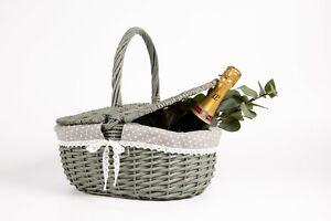 Wickerfield Picnic Basket With Lid Handle Wicker Handmade Storage Hamper