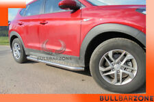 HYUNDAI TUCSON III 2015+ MARCHE-PIEDS INOX PLAT / PROTECTIONS LATERALES