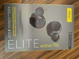 Jabra Elite Active 75t True Wireless Earbuds - Grey