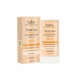 Babo Botanicals Tinted Face Mineral Sunscreen Stick - Natural Glow - SPF 50