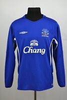 Size M Medium Everton FC 2005 2006 Home Football Shirt Jersey Long Sleeve Umbro