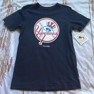 MLB Baseball New York Yankees childs T-shirt-navy blue-size XS-NWT