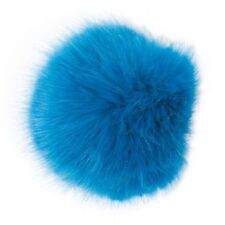 Rico Design Fake Fur Pom Pom Azure Blue Hat Clothes Accessory