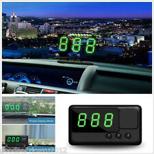 Car HUD Digital Speedometer Head UP Double Modes Project Overspeed Alert System