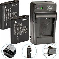 BM LI90 LI-92B 2X Batteries & Charger for Olympus Tough TG-Tracker SH2 SH50 SH60
