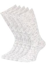 BIANCO 35-38 6 paia di calze da donna senza Elastico cotone per diabetici senza cuciture