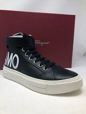 $795 New Salvatore Ferragamo Mens Black Shoes Sneakers Size 7 US 6 UK 40 EU