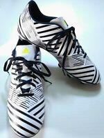 Adidas Nemeziz 17.4 FG Mens Size 11 M Soccer Cleats White and Black Stripes